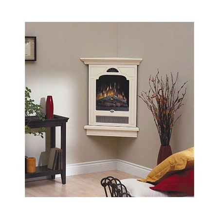 Dimplex Corner Style Wall Mount Cream And Pewter Electric Fireplace
