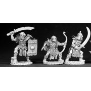 Reaper Miniatures Orc War Party (3 Pieces) #02550 Dark Heaven Unpainted Metal