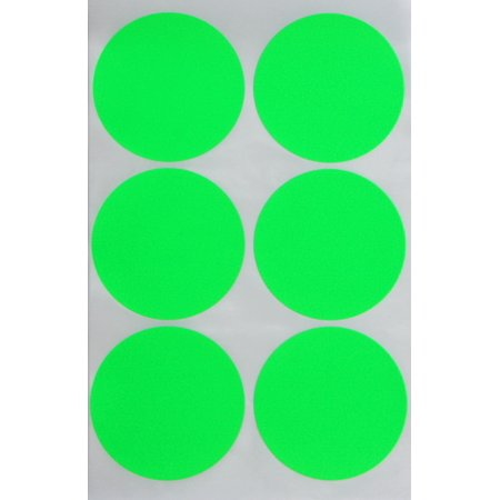 Royal green neon green sticker 50mm dot labels round 2 inch easy peel stickers 540 pack