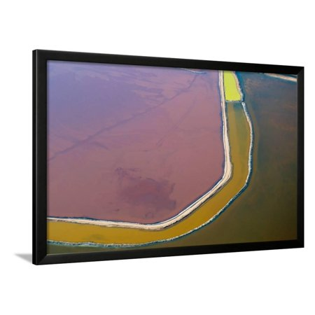 Aerial View of Salt Evaporation Ponds, Walvis Bay, Skeleton Coast Framed Print Wall Art By Sergio (Rapidvap N2 Evaporation System)