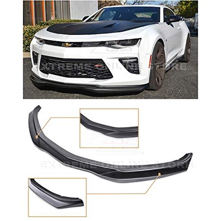 Extreme Online Store for 2016-2018 Chevrolet Camaro SS V8 | EOS T6 Style ABS Plastic Primer Black Add On Front Bumper Lower Lip Splitter (Adult Online Stores)