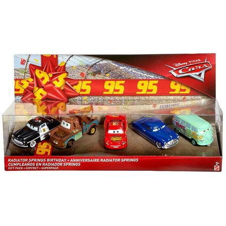 Disney Cars Cars 3 Radiator Springs Birthday Diecast Car 5-Pack