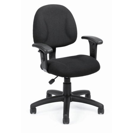OCC Fabric Deluxe Posture Task Chair Black Computer Desk Chair Office Chair With Adjustable T