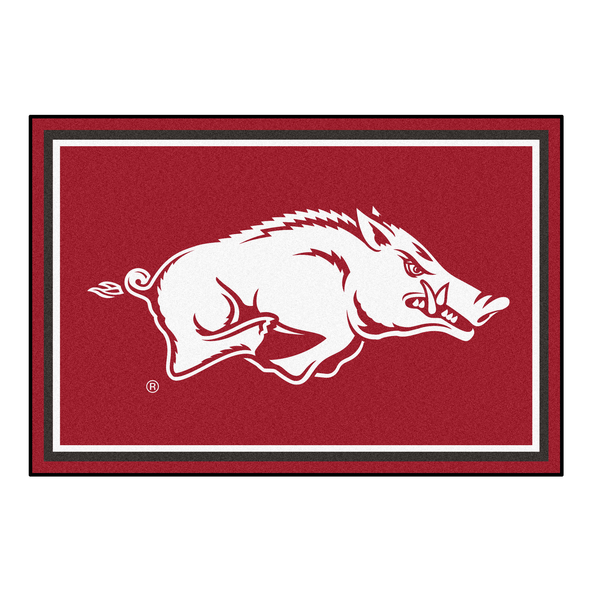 6616 Fanmats College NCAA University of Arkansas 59.5 Inch x 88 Inch Nylon Face durable Non-skid Chromojet-printed 5x8 Plush Rug