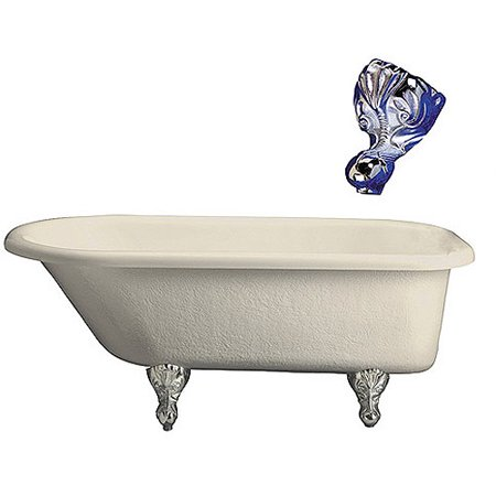 Bisque Roll Top Tub (Barclay Acrylic Roll Top Claw Foot Tub)