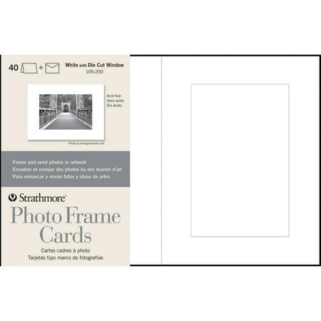 Strathmore Photo Frame Cards, 5in x 7in, White, - Strathmore Photo Frame Cards