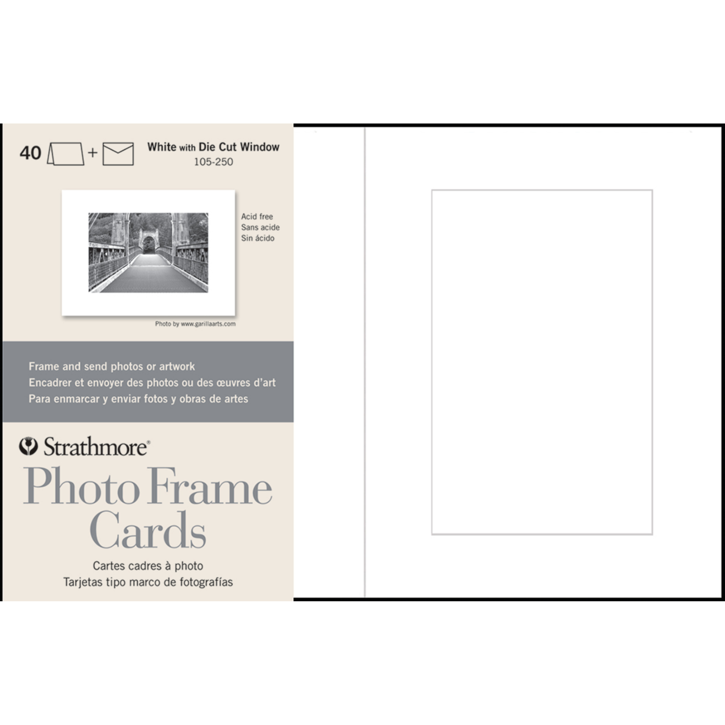 Strathmore Photo Frame Cards, 5in x 7in, White, 40/Pkg.