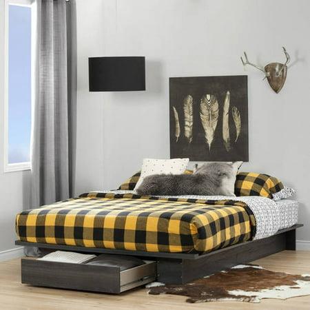 south shore full queen holland platform bed multiple finishes. Black Bedroom Furniture Sets. Home Design Ideas