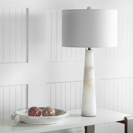 Alabaster Table Lamp - Safavieh Delilah Alabaster Solid Glam 30 in. H Table Lamp, White