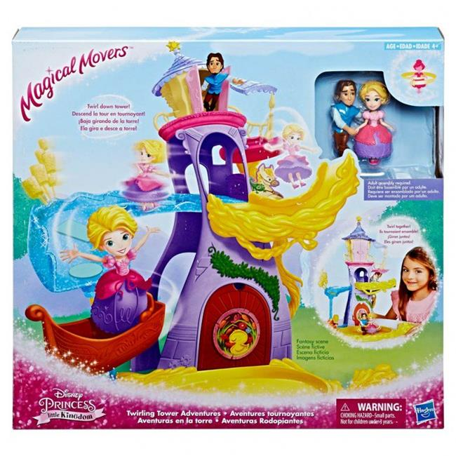Hasbro HSBE1700 Disney Princess Magic Movers Rapunzel Dxl Playset, 4 Count