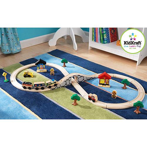 KidKraft Figure Eight 38-Piece Train Set