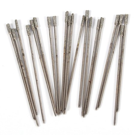 EECOO Lapidary Hole,20PCS 1mm Diamond Coated Lapidary Drill Bits Solid Bits Needle For Jewelry Agate Lapidary Drill Bits