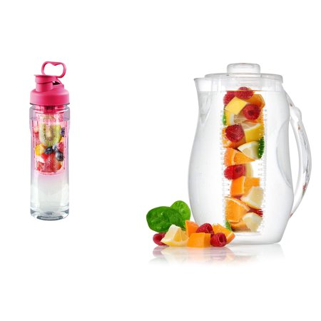 Tritan Fruit Infuser Water Bottle & Fruit Infuser Water
