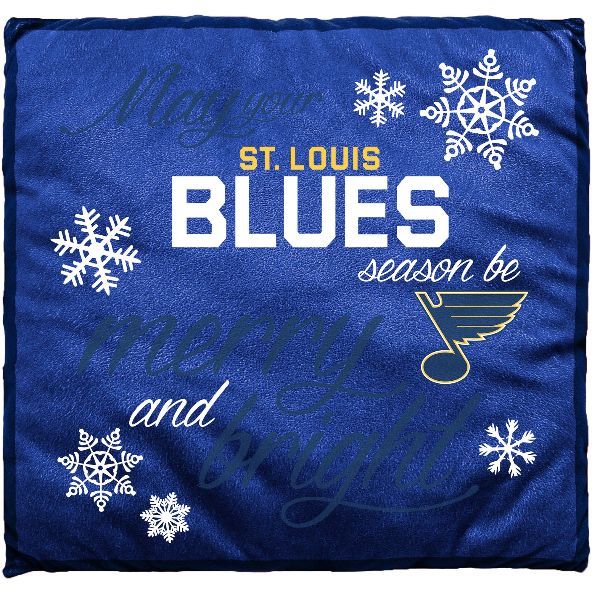 St. Louis Blues Holiday Pillow - No Size