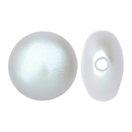 Swarovski Coin Set - Swarovski Crystal, #5860 Coin Faux Pearl Beads 12mm, 2 Pieces, Iridescent Dove Grey