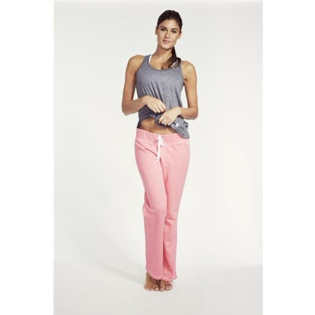 Soffe 5378VNEOPKSML Juniors French Terry Lounge Pant - Neon Pink,