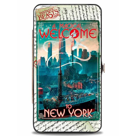Hinged Wallet Fantastic Beast And Where To Find Them Ship Post Card A Magical Welcome To New York