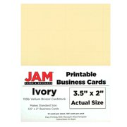 Delicate image within printable business card paper