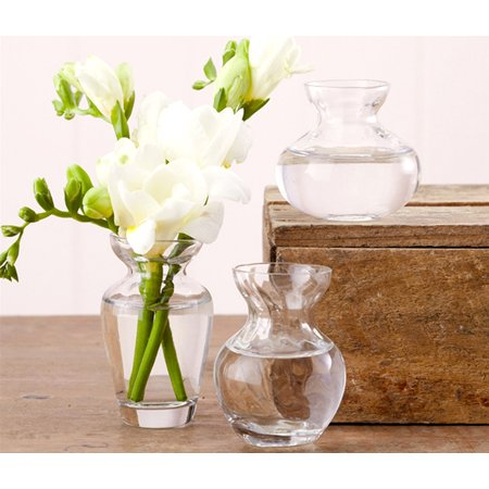 Flute Vase (Home Decor and Accents Two's Company Fluted Trio Bud Hand Blown Glass Vases (3pc Set))