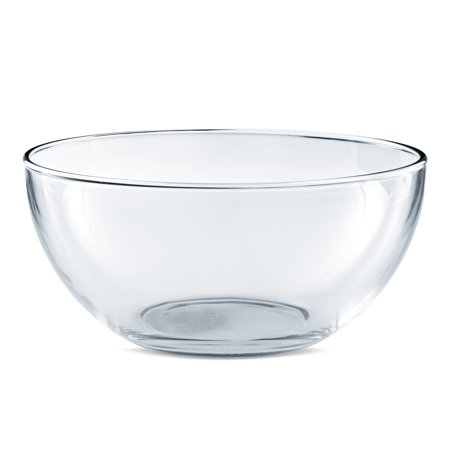 Mainstays 10-Inch Round Clear Glass Serving Salad Bowl