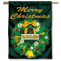 Baylor University Bears Merry Christmas Banner Flag