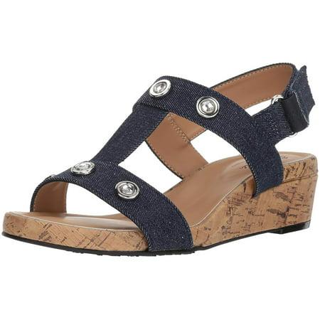 Femmes Soft Style Sandales Compensées - image 2 de 2