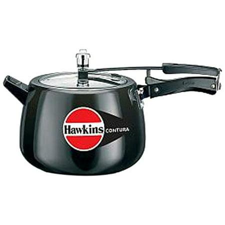 Hawkins Cb65 Hard Anodised Pressure Cooker  6 5 Liter  Contura Black
