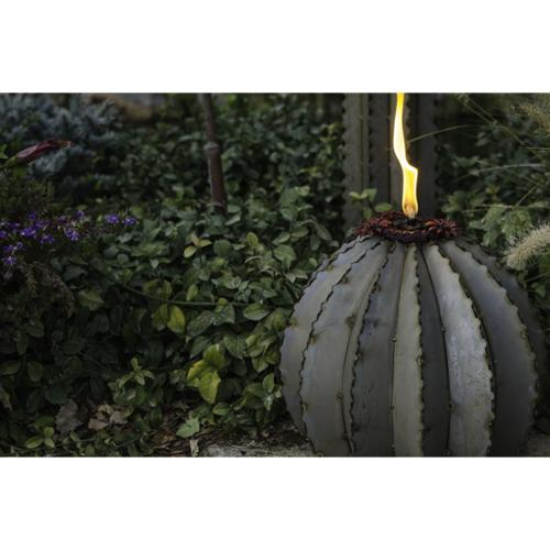 Desert Steel Large Golden Barrel Cactus with Torch by Overstock