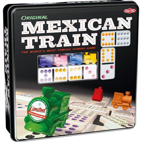 CLASSIC DOUBLE TWELVE MEXICAN TRAIN DOMINOES BOARD GAME