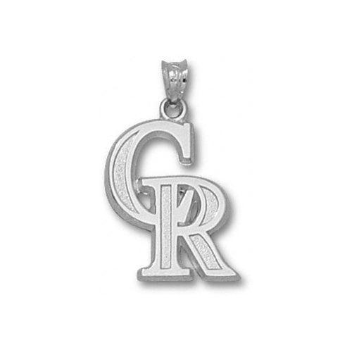 MLB - Colorado Rockies 3/4'' Sterling Silver ''CR'' Pendant
