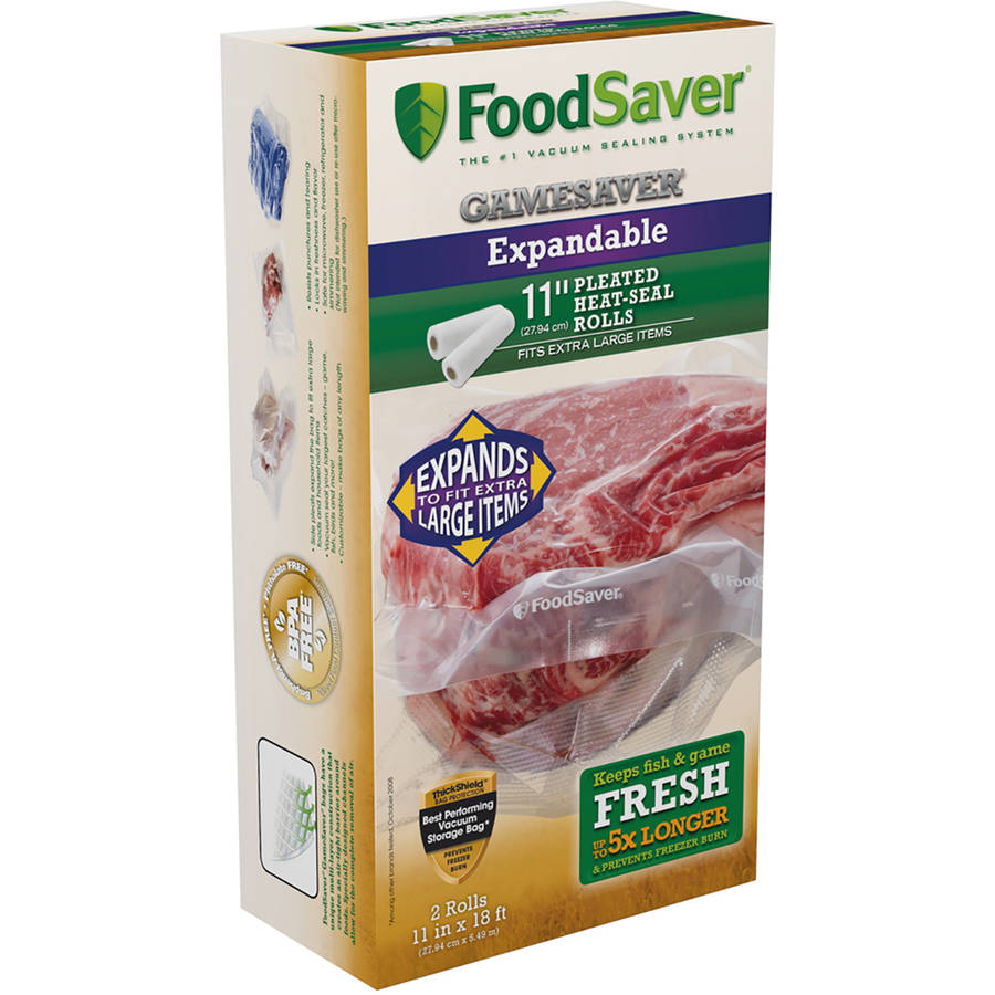 "FoodSaver GameSaver 11"" x 18' Expandable Heat-Seal Rolls"