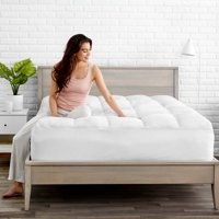 Bare Home Pillow-Top Premium Mattress Pad - 1.5 Inch Cooling Down Alternative Polygel Filled Microplush Super-Soft Hypoallergenic Topper (Queen)