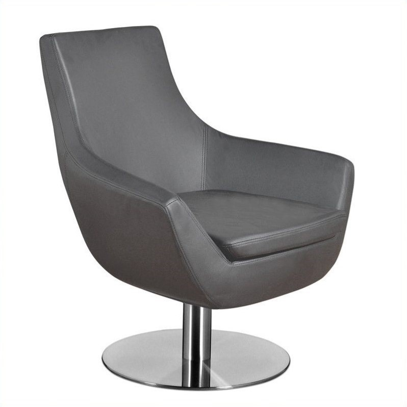 Image of AEON Furniture Brett Upholstered Lounge Chair in Gray