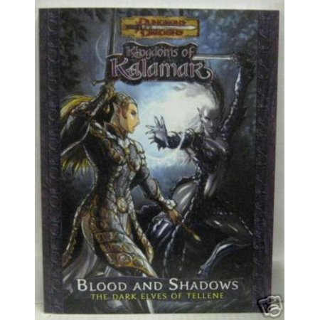 Blood And Shadows   The Dark Elves Of Tellene Great Condition