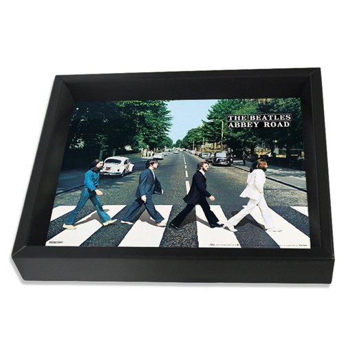 Pyramid America Beatles Abbey Road Photographic Print Shadow Box