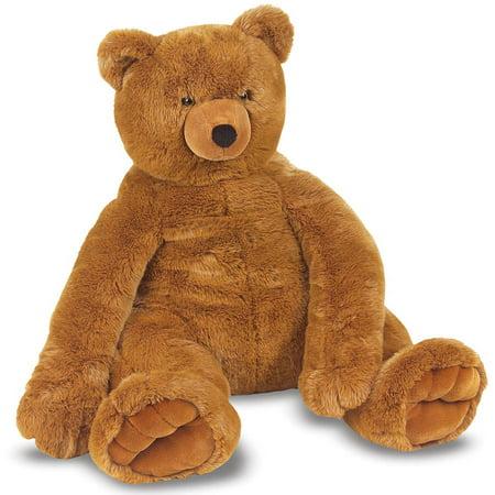 Melissa   Doug Jumbo Brown Teddy Bear