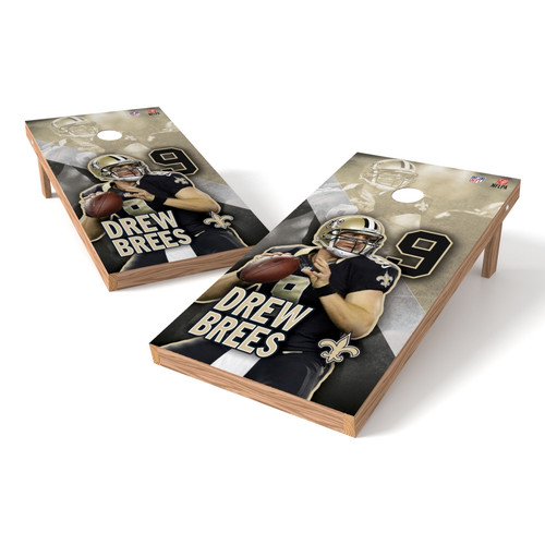 Tailgate Toss NFLPA NO Saints Drew Brees Cornhole Board