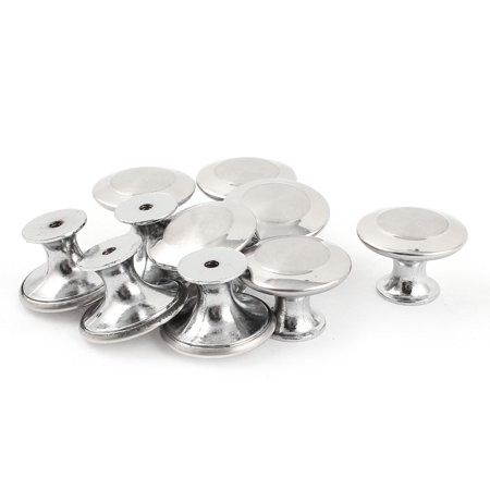 10 x 30mm Dia Round Top Metal Door Cabinet Drawer Pull Knobs Replacement