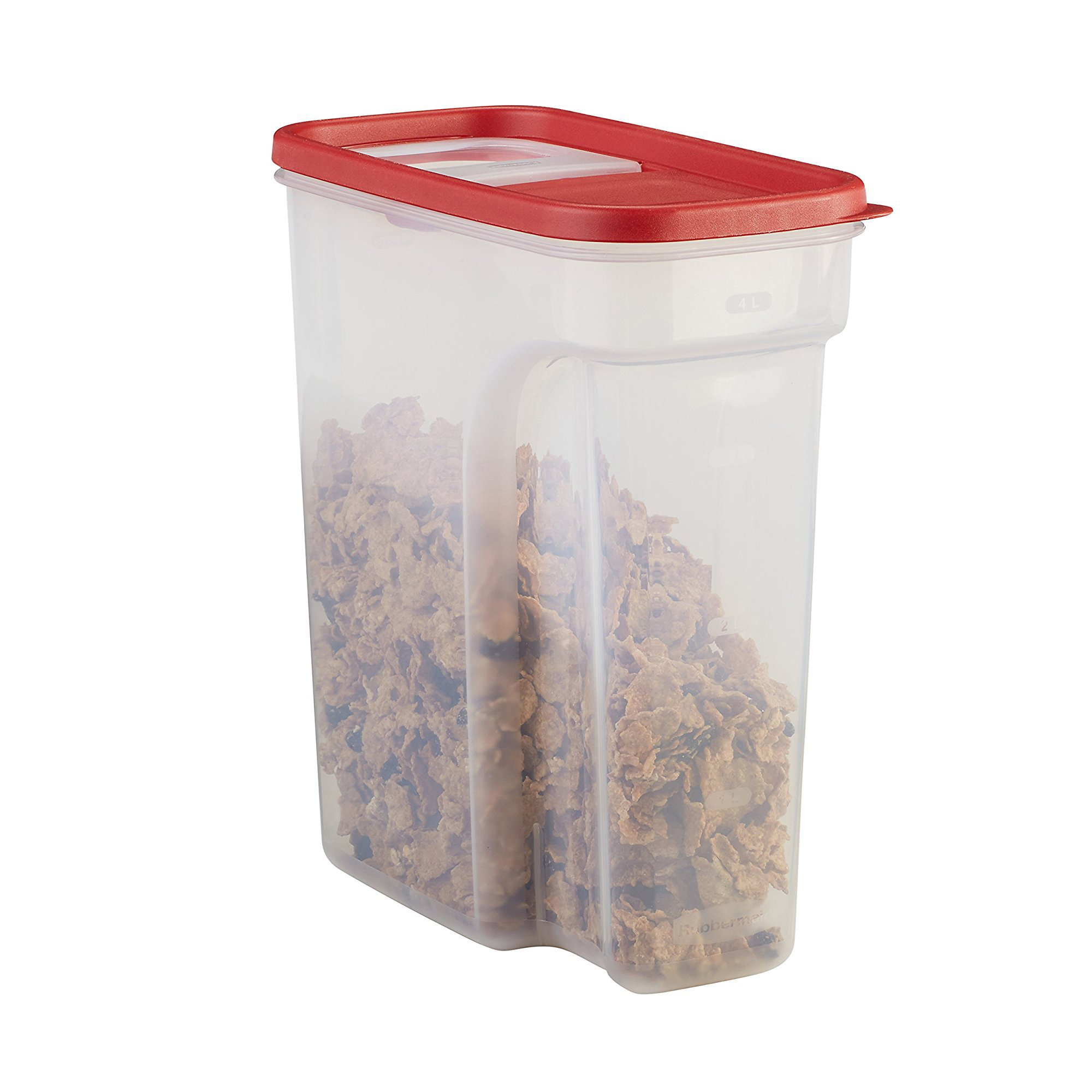 Genial Rubbermaid Flip Top Cereal And Food Storage Container, 18 Cup/4.26 Liter,
