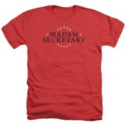 Madam Secretary Distress Logo Mens Heather Shirt