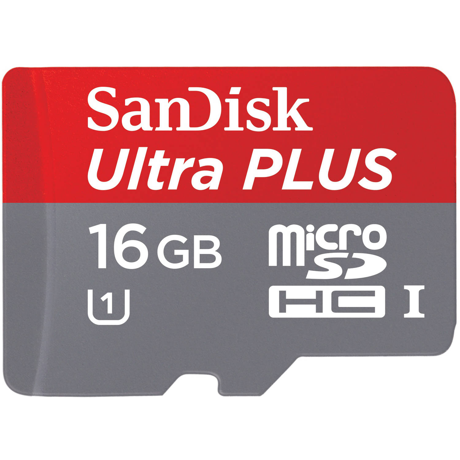 SanDisk Ultra PLUS 16GB microSD Card, Imaging, Class 10