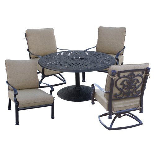 Astoria Grand Palazzo Sasso 5 Piece Conversation Set with Cushions