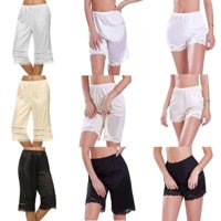 Pudcoco Women Lace Safety Short Pants Skirt Under Briefs Shorts Slips Ice Silk Home