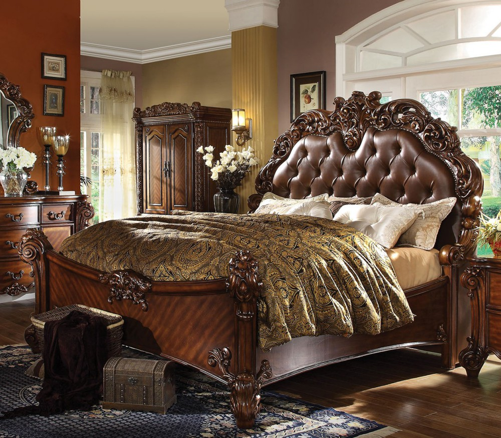1PerfectChoice Vendome Cherry Pu California King Sleigh Bed by 1PerfectChoice