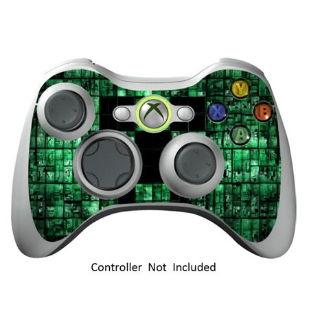 Skin Stickers for Xbox 360 Controller - Vinyl High Gloss Sticker for X360 Slim Wired Wireless Game Controllers - Protectors Stickers Controller Decal - Green Digicamo (Green Xbox 360 Controller Wired)