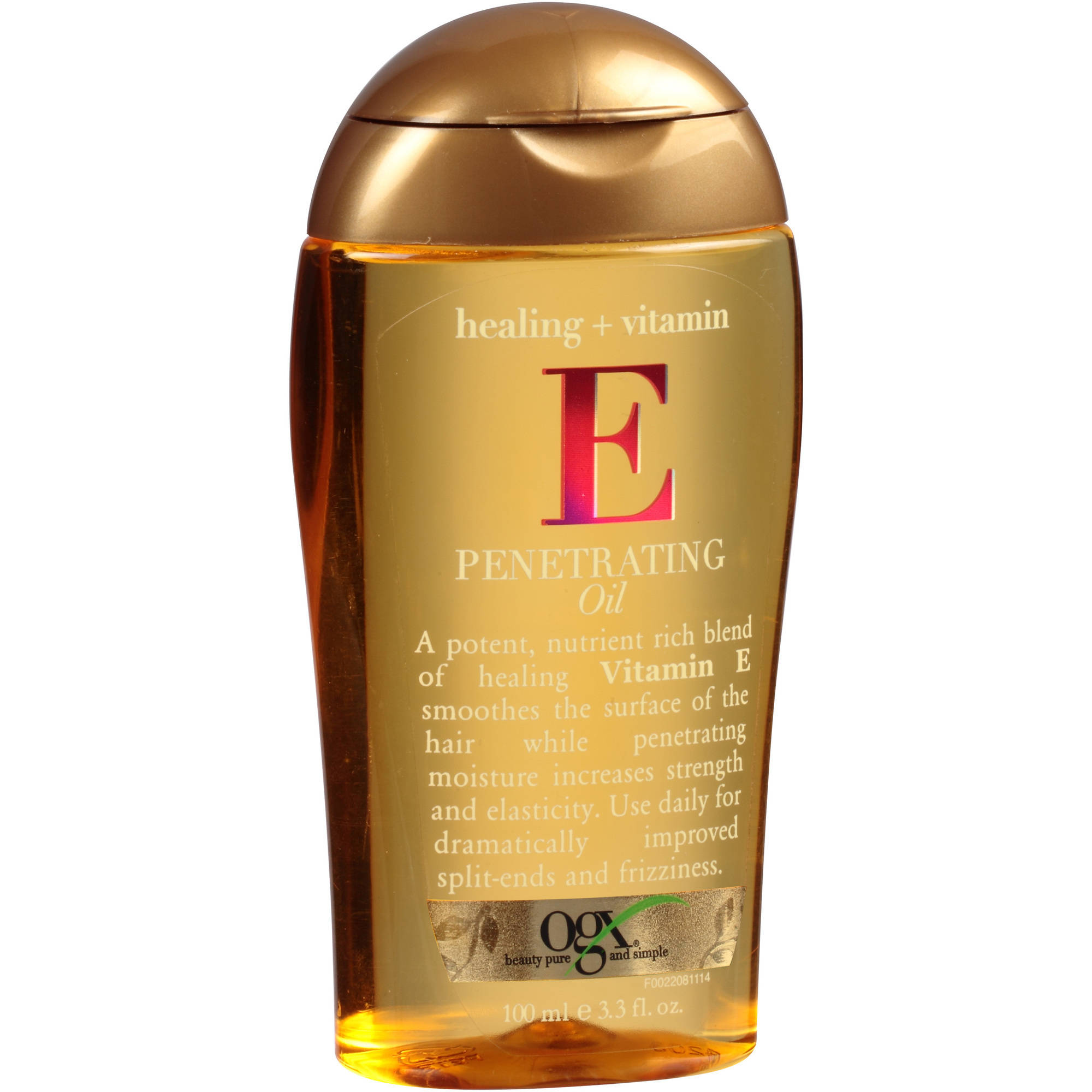 OGX Healing + Vitamin E Penetrating Hair Oil, 3.3 fl oz
