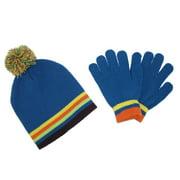 CTM - Kid s Knit Striped Hat and Gloves Winter Set - Walmart.com 7f147fd1364