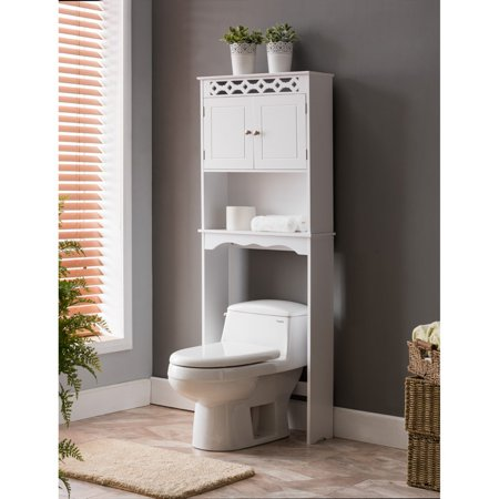 Wood Bathroom - K&B Furniture BM1133 Wood Bathroom Rack