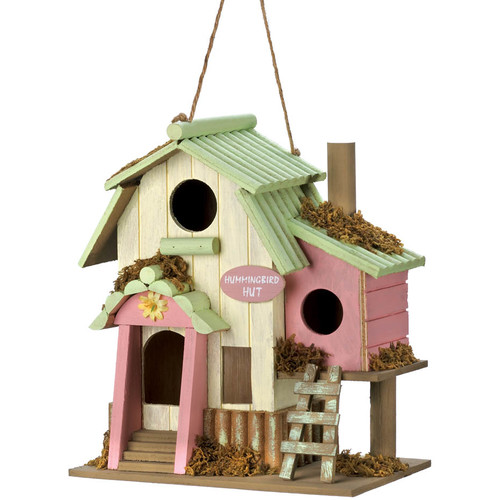 Zingz & Thingz Hummingbird Hut 8.5 in x 8.5 in x 5 in Birdhouse by Zingz & Thingz