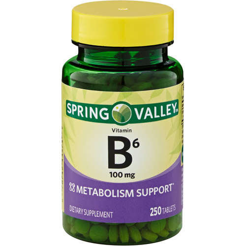 Spring Valley Vitamin B-6 100 mg, 250 count